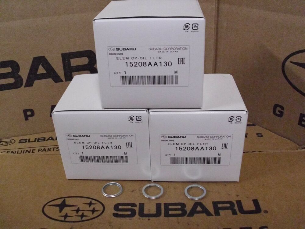 genuine oem subaru oil filter 4 pack crush washer 2010. Black Bedroom Furniture Sets. Home Design Ideas