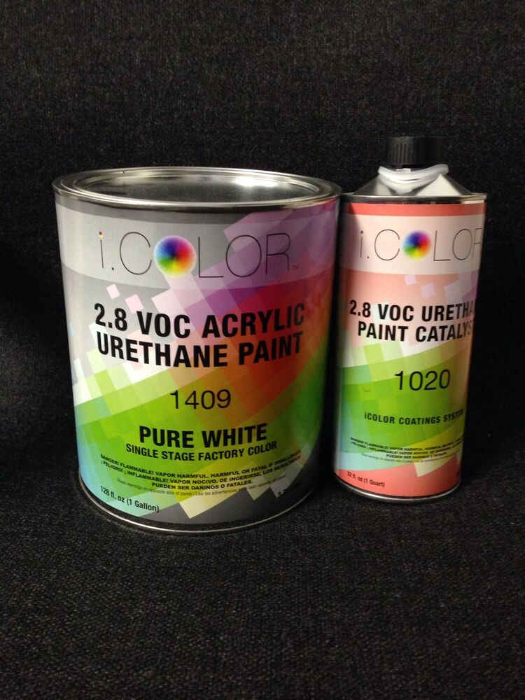 Pure White Gallon Kit Single Stage Acrylic Urethane Auto