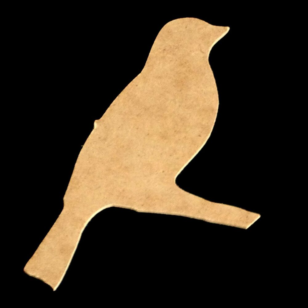Bird on Branch Unfinished Wood Shape Cut Out Variety of Sizes USA Made ...