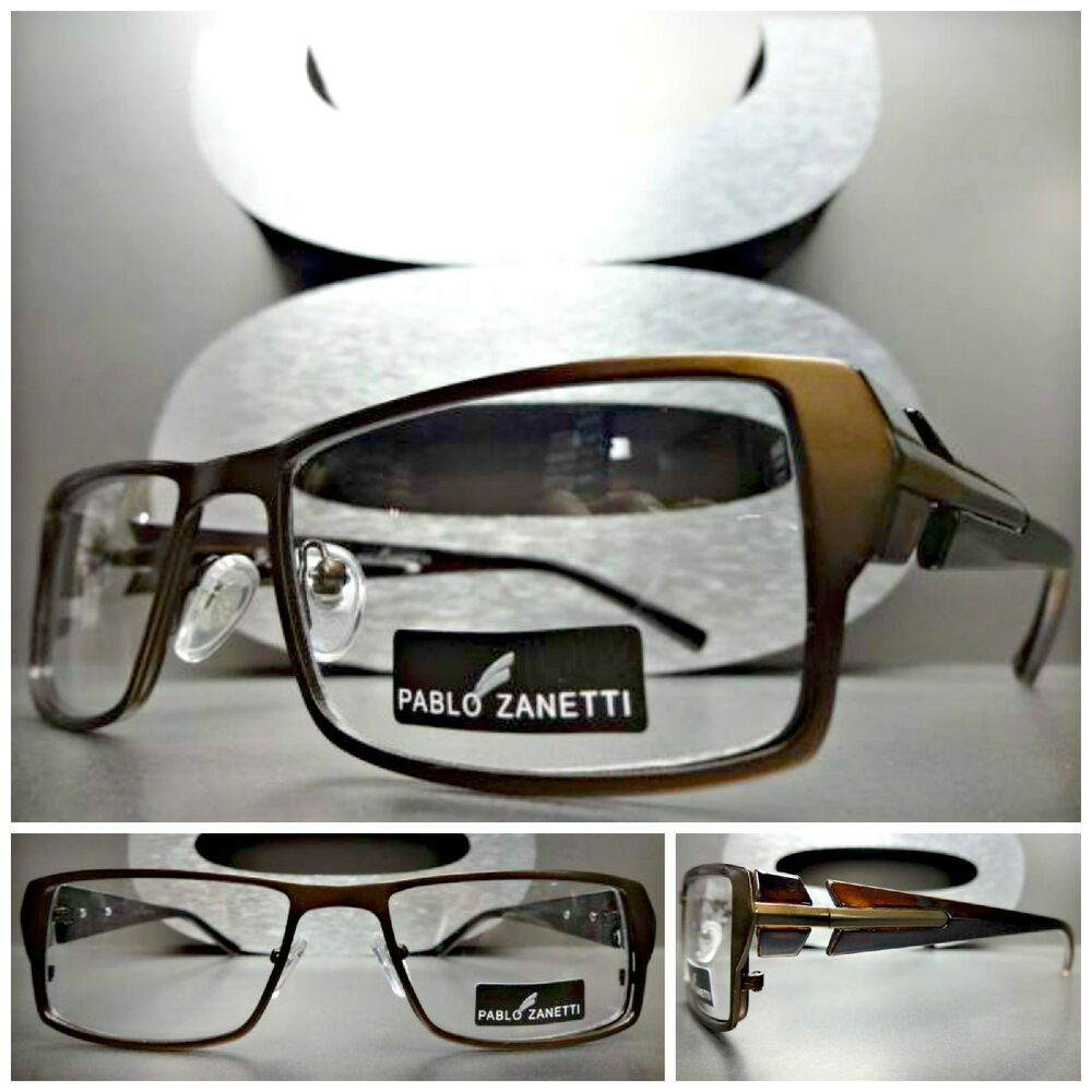 mens contemporary modern clear lens eye glasses