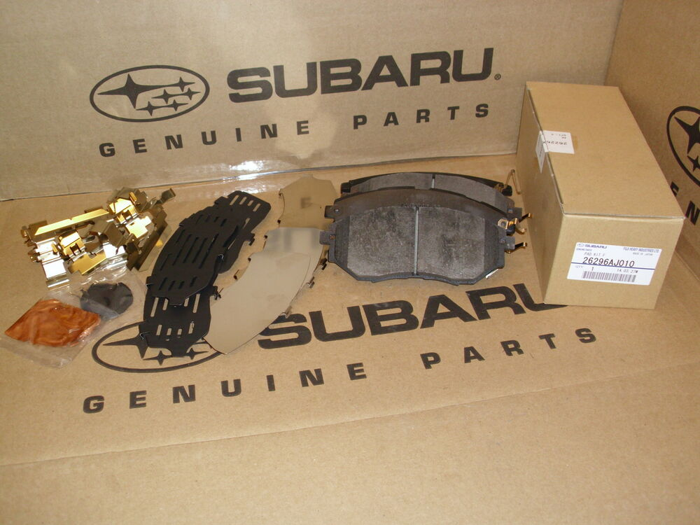 genuine oem subaru legacy and outback front brake pad set 2011 2014 26296aj010 ebay. Black Bedroom Furniture Sets. Home Design Ideas