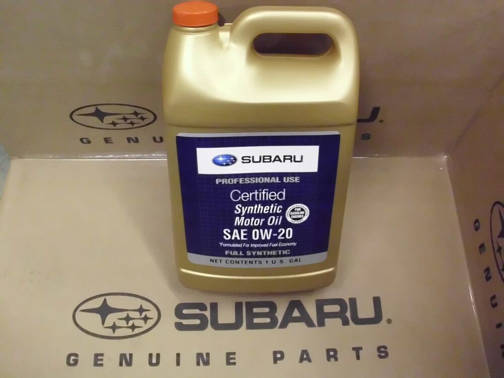 genuine oem subaru 0w 20 synthetic motor oil 1 gallon 4quarts soa427v1315 ebay. Black Bedroom Furniture Sets. Home Design Ideas