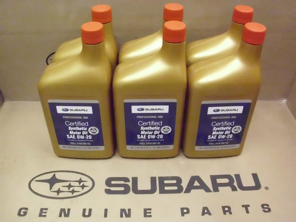 Genuine oem subaru 0w 20 synthetic motor oil 6 quarts for Sae 0w 20 synthetic motor oil