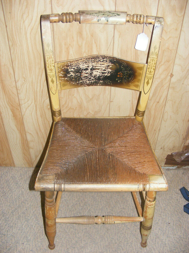 Vintage Turtle Back Hitchcock Dining Chair Original Paint
