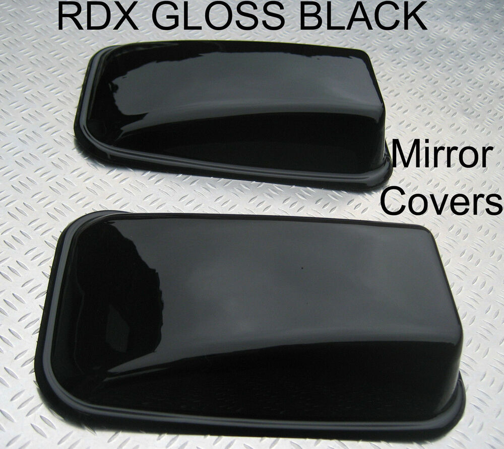RDX GLOSS BLACK Mirror Covers Land Rover Defender 90 110