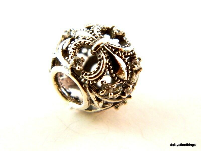 New  Authentic Pandora Charm Fleur De Lis Bead  791378cz P