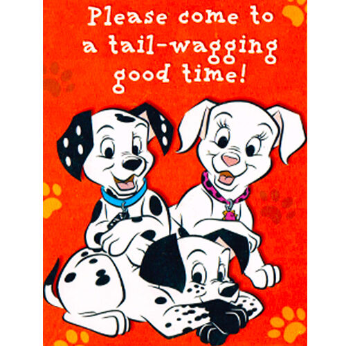 102 DALMATIANS INVITATIONS (8)