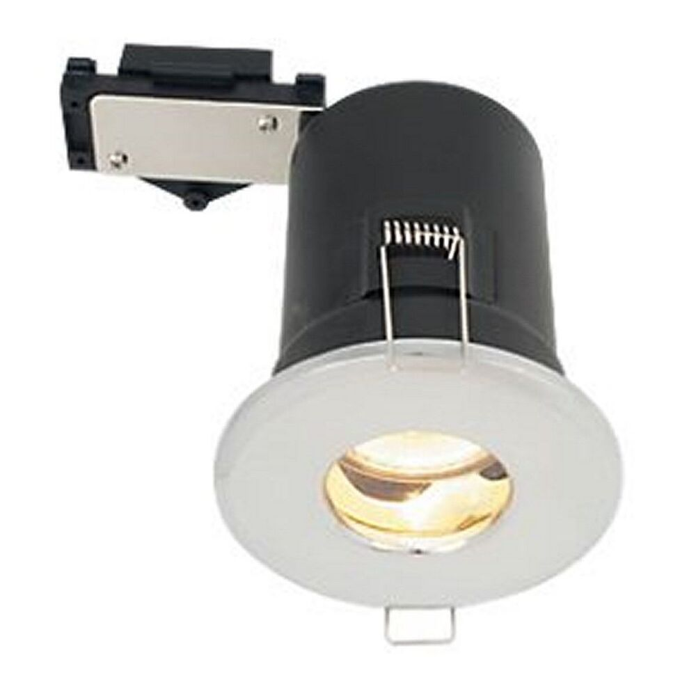3 X Lap 240v Bathroom Fire Rated Downlight 50w Gu10 Ip44