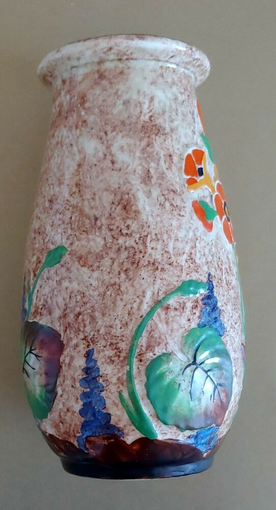Crown Ducal Ware 7x 4 Art Deco Hp Vase Ebay