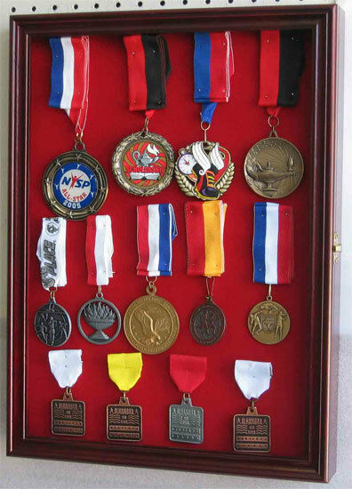 Wall Shadow Box For Lapel Pin Patches Medal Display Glass