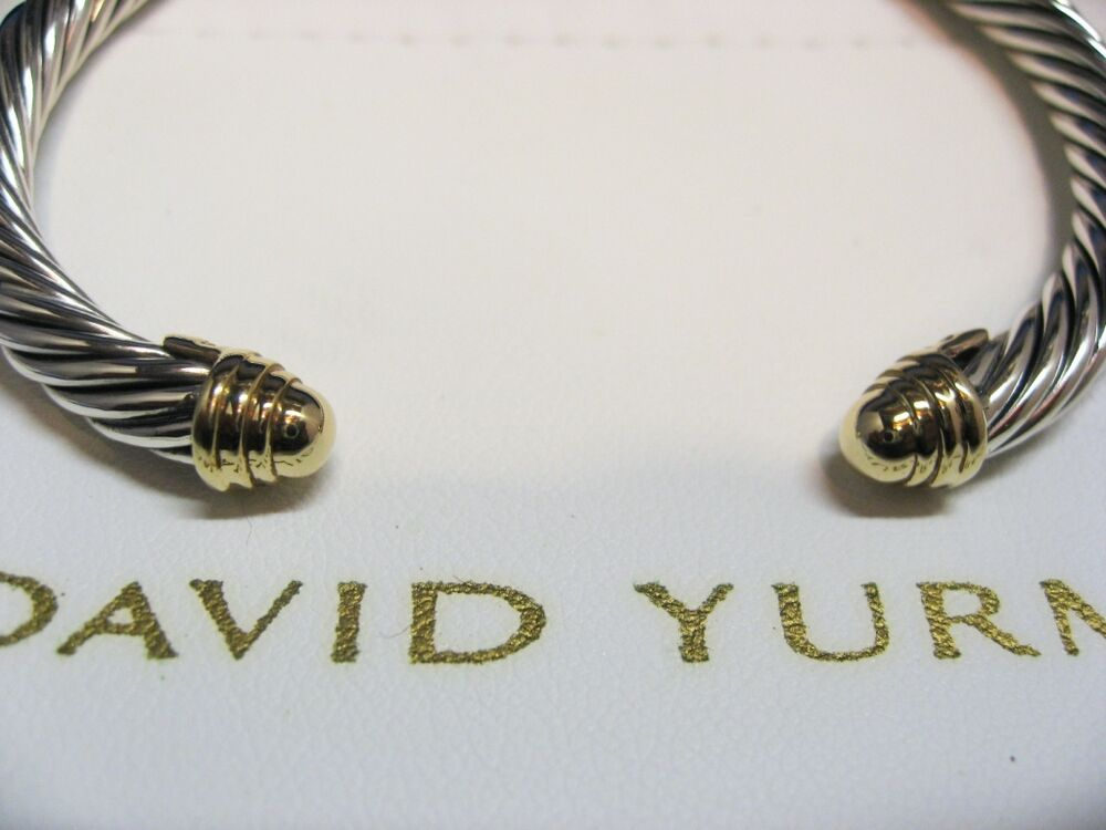 genuine david yurman 5mm gold dome cable bracelet ebay