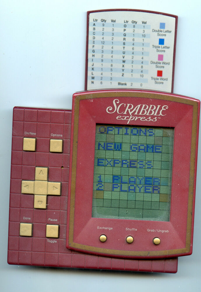 Scrabble Express Handheld Electronic Game Hasbro 1999 Tested Works Fine | eBay