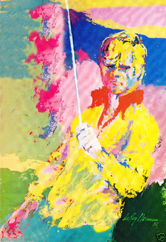 jack nicklaus poster golf poster leroy neiman nice ebay. Black Bedroom Furniture Sets. Home Design Ideas