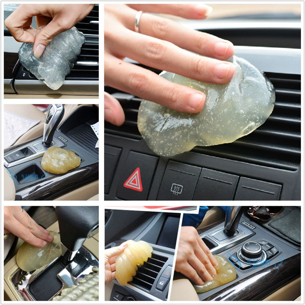 universal auto interior dashboard air vents armrest transparent clean gel glue ebay. Black Bedroom Furniture Sets. Home Design Ideas