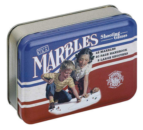 Marbles Shooting Game Classic Series In A Tin Box Made In