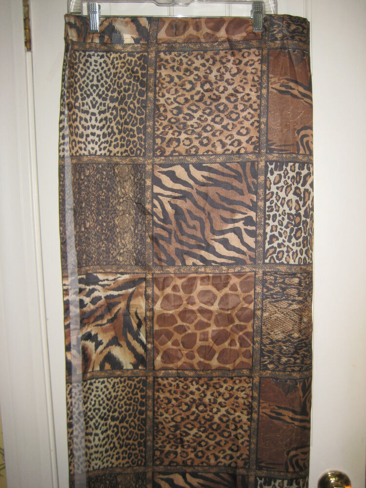 Victoria Classics Shower Curtain Animal Prints Polyester New 70x71 ...