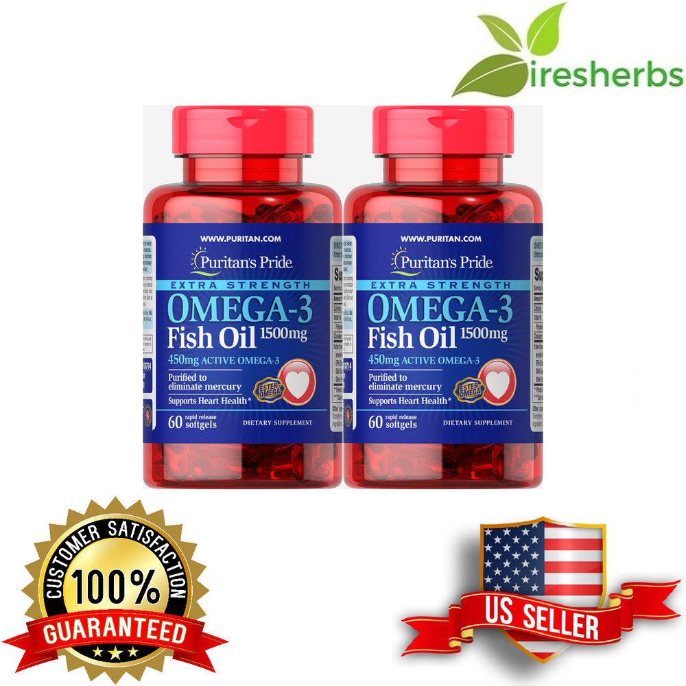 omega 3 fish oil 1500mg pure no mercury dietary supplement