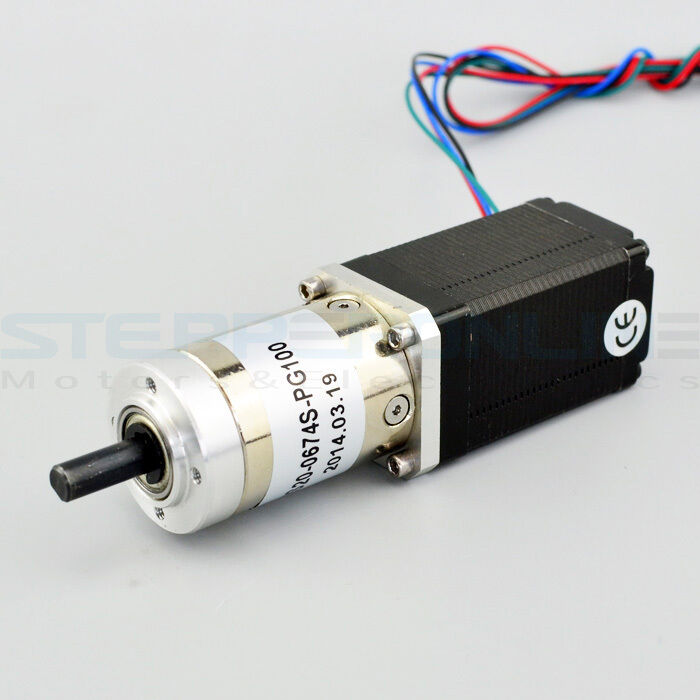 100 1 planetary gearbox nema 11 stepper motor low speed for Servo motor sizing calculator online