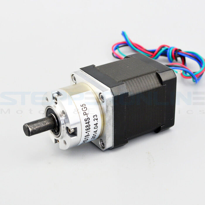 Nema 17 geared stepper motor gear ratio 5 1 3d printer for Stepper motor gear box