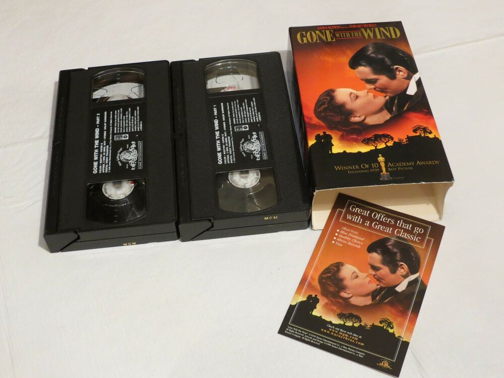gone with the wind 2 tape pack set mgm 207199 vhs movie tapes rare gift 27616719935 ebay. Black Bedroom Furniture Sets. Home Design Ideas