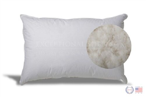 Extra soft white down pillow for stomach sleepers comfy fluffy eco