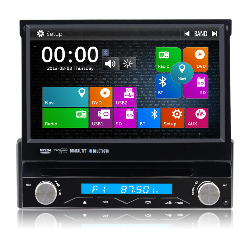 1 din autoradio navigation gps 3g 7 dvd touchscreen bluetooth mp3 usb swc dvr ebay. Black Bedroom Furniture Sets. Home Design Ideas