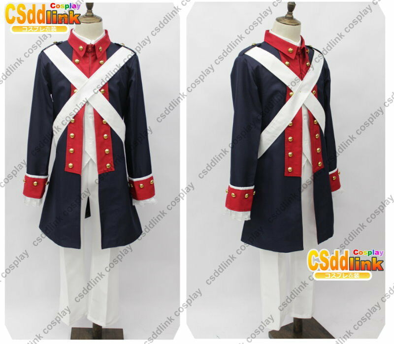 Axis Powers APH America Uniform Revolutionary War Cosplay ...