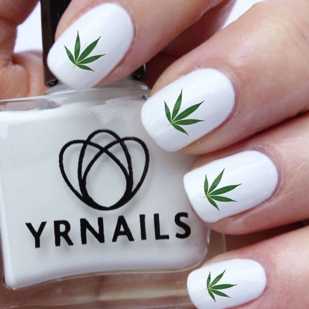 Nail Art Water Decals - Green Cannabis Marijuana Weed Leaf - S991 | eBay
