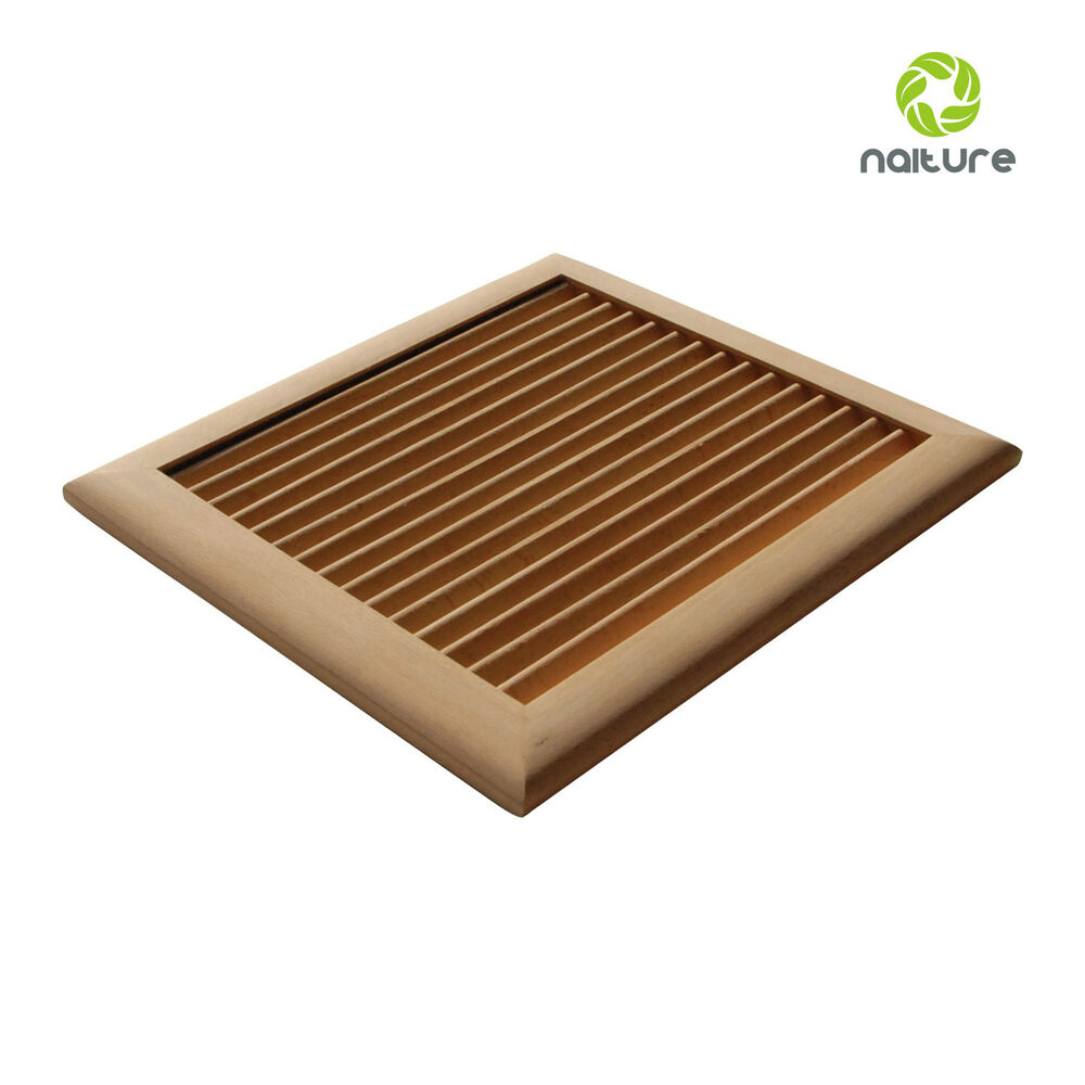 Unfinished Square Wood Wall Return Grille In Cherry Maple