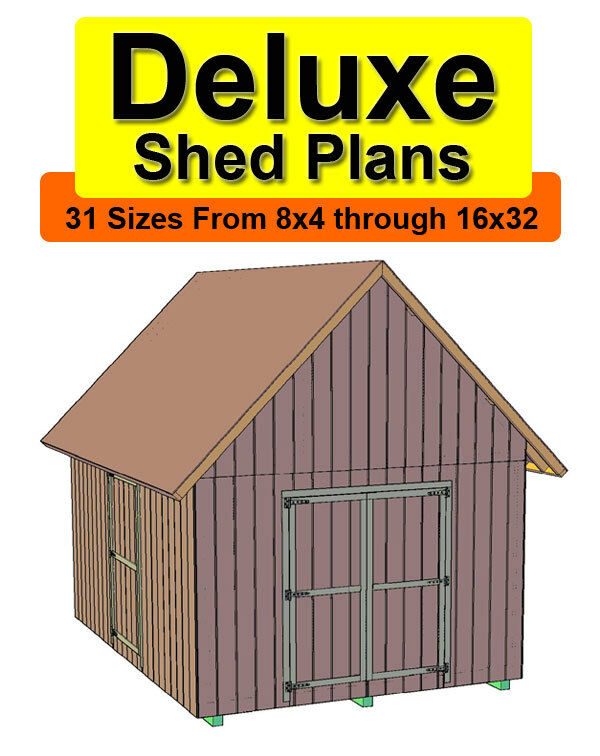10x12 Deluxe Gable Roof Shed Plans In 31 Sizes From 8x4 To ...