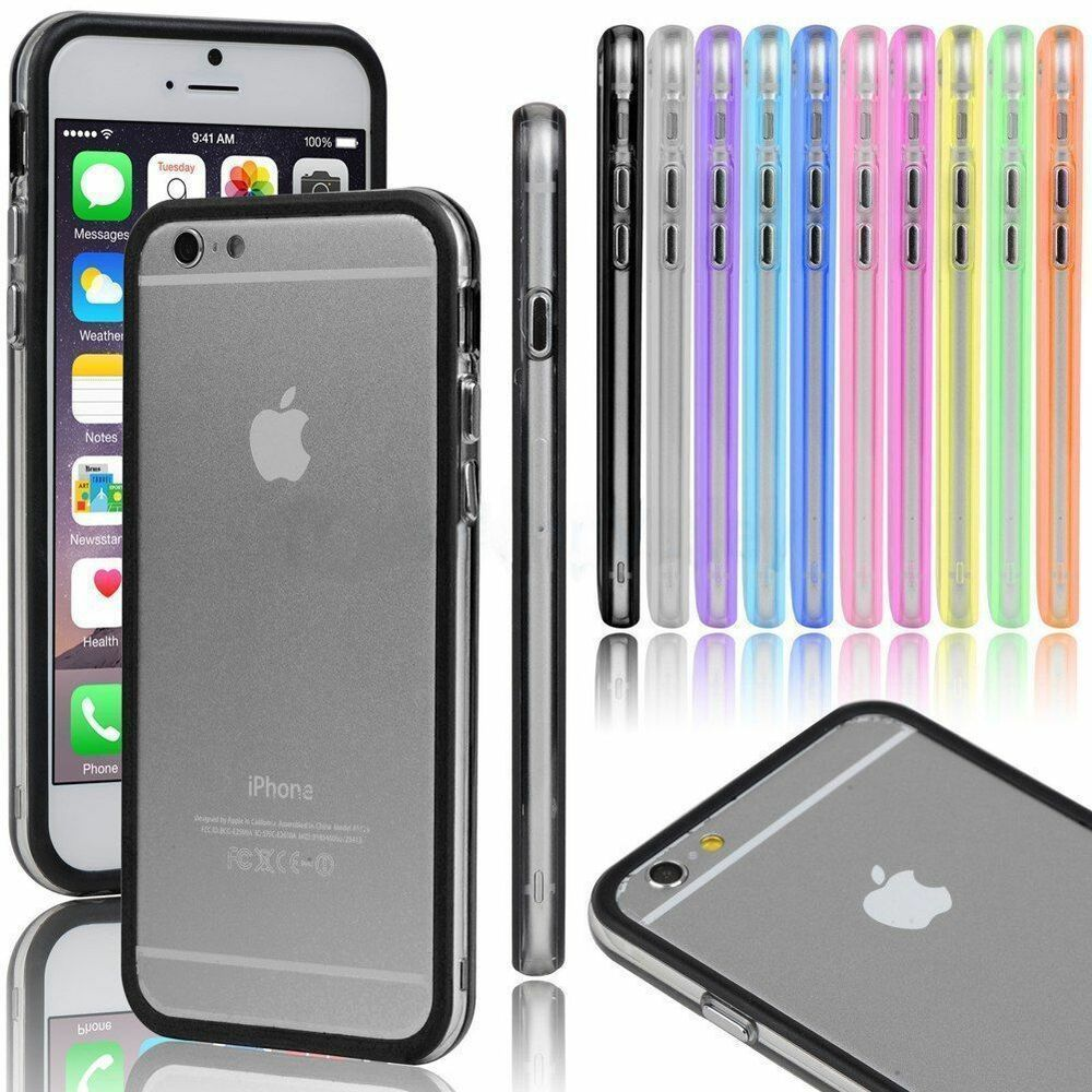iphone 6 bumper case ultra thin rubber protection multiple colors new ebay. Black Bedroom Furniture Sets. Home Design Ideas