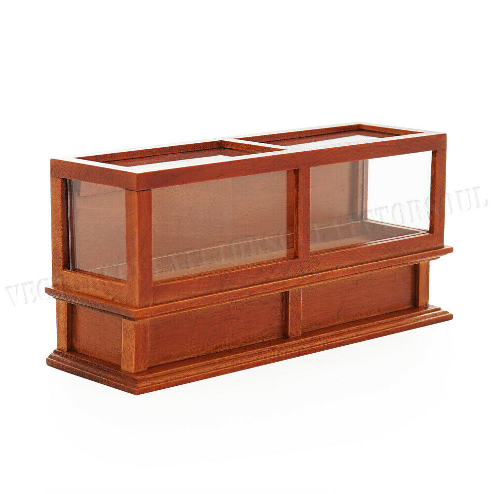 Kitchen Counters On Toys: Brown Bakery Shop Cabinet Counter Dollhouse Display