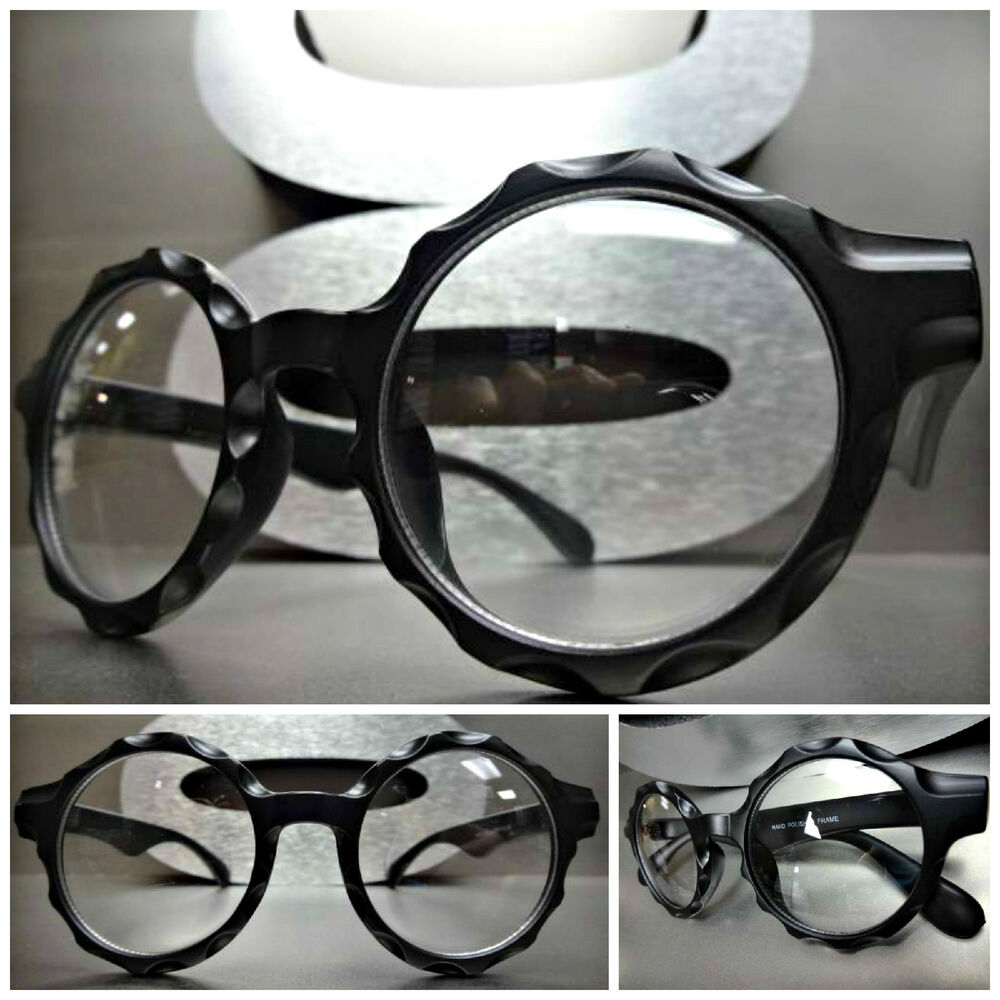 Vintage Black Frame Glasses : Mens Women CLASSIC VINTAGE RETRO Style Clear Lens EYE ...