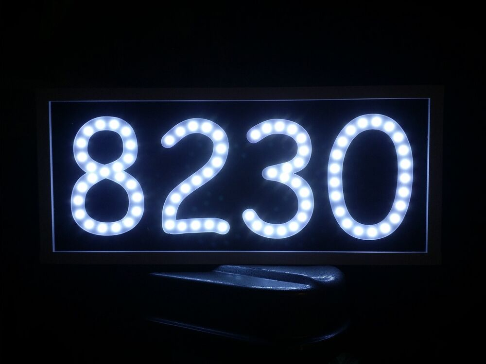 Led address sign routed engraved back lit lighted sign Led house numbers