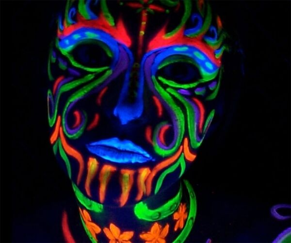 neon fx blacklight makeup pallet rave wear costume. Black Bedroom Furniture Sets. Home Design Ideas