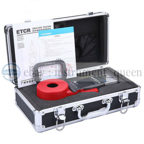 Ground Resistance Test : Etcr digital clamp on ground earth resistance tester