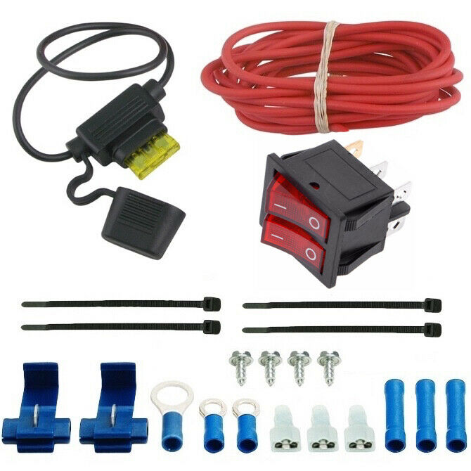 dual electric radiator fan manual rocker switch kit wire fans chevy 305 350 383 ebay