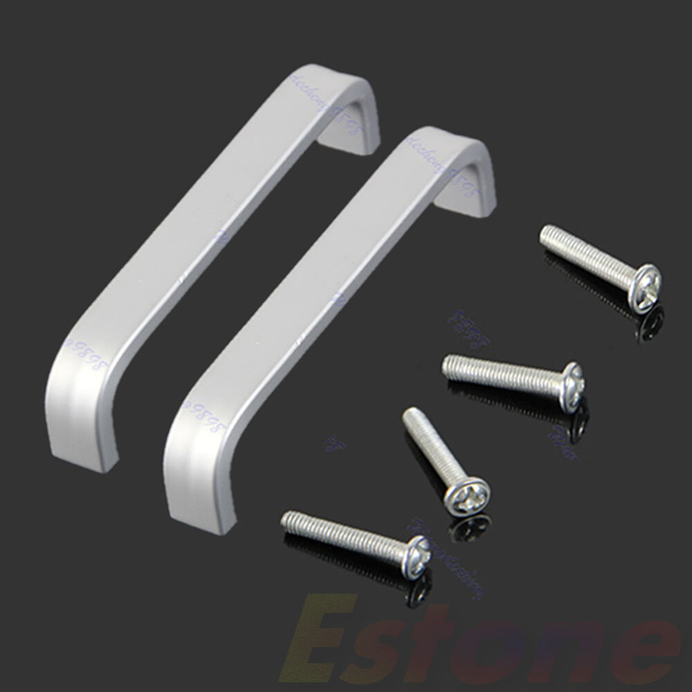 Aluminum Alloy Pull Handle Door Cabinet Bathroom Cupboard Drawer Grip Knob 2pcs Ebay