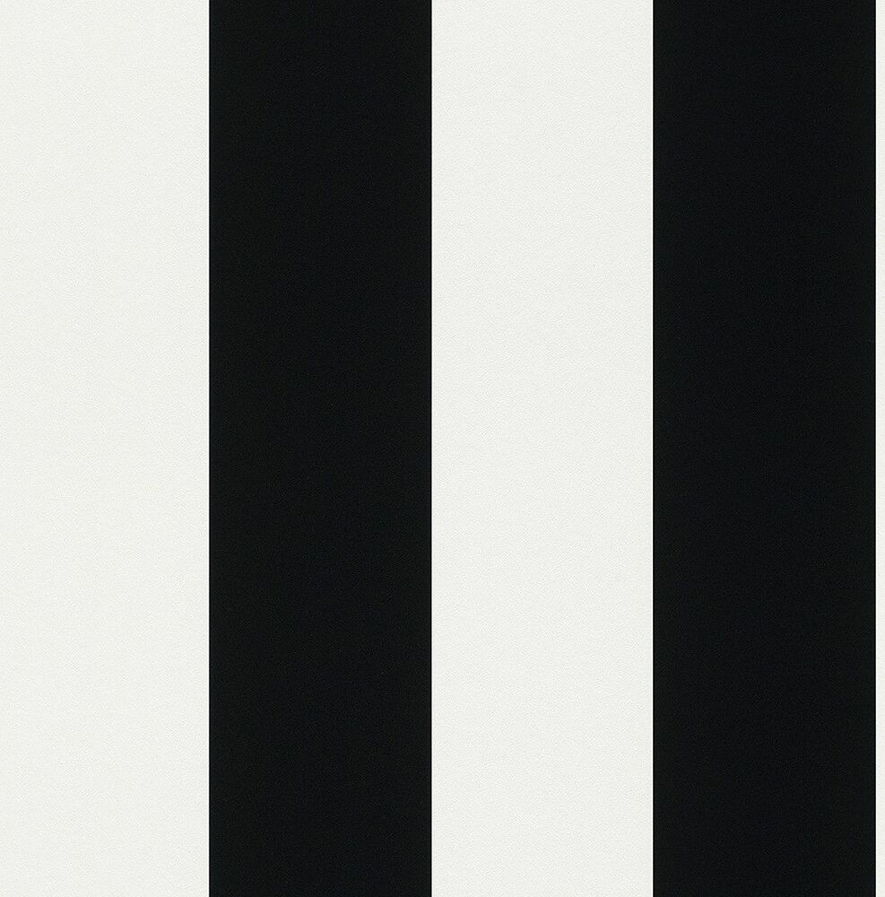 286694 black and white wide stripe washable wallpaper for White washable wallpaper