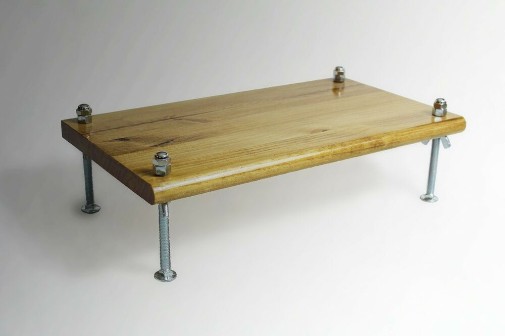 L k monitor stand pine golden oak stain  tv