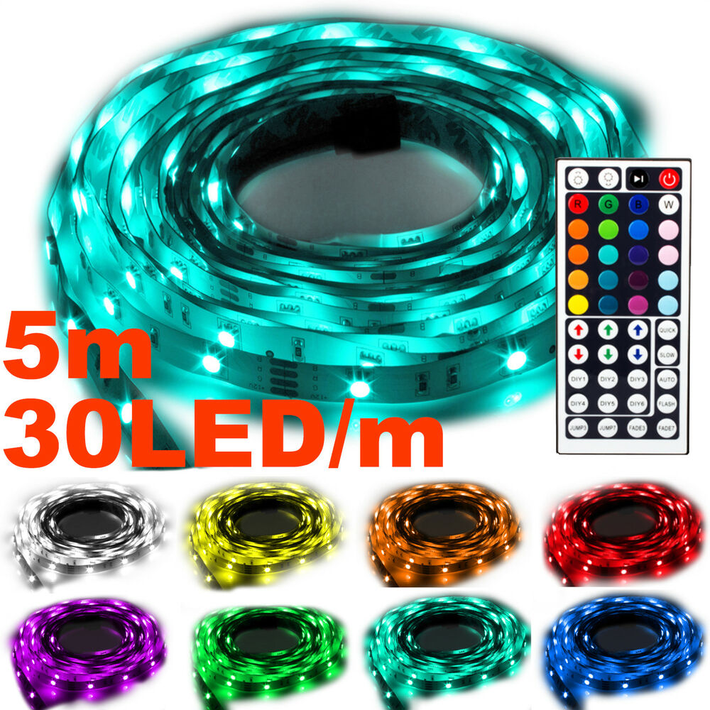 ninetec flash30 5m led stripe band kette rgb 44 key. Black Bedroom Furniture Sets. Home Design Ideas