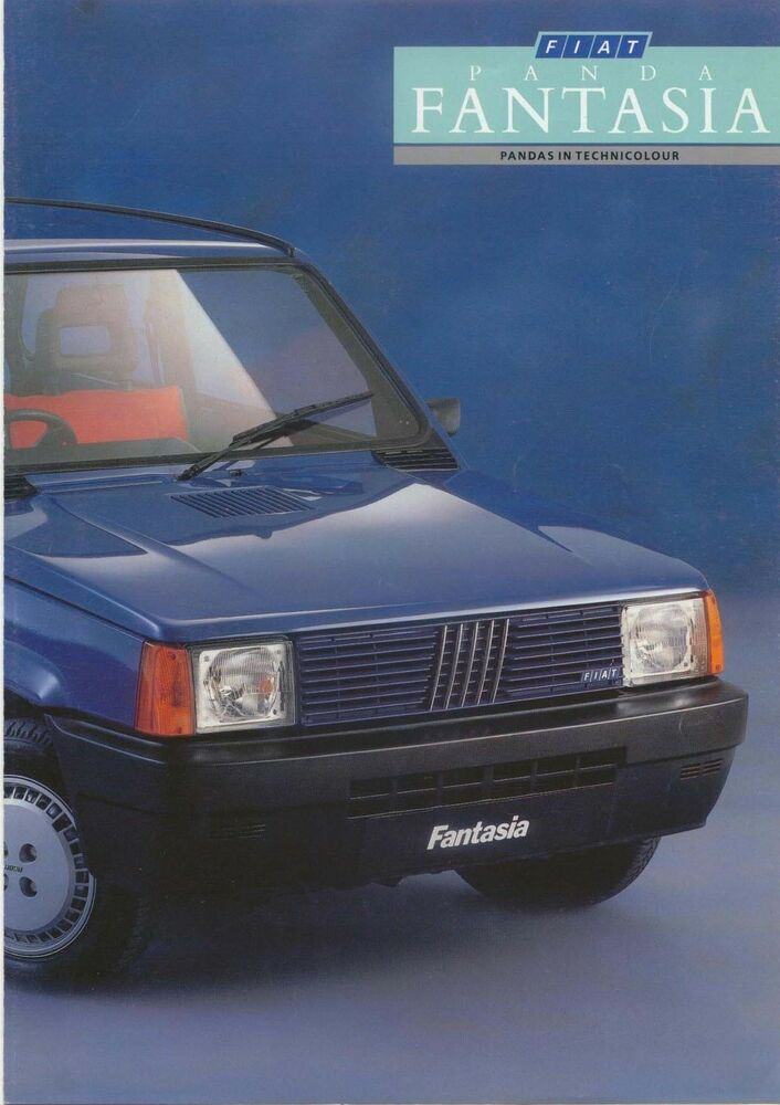 fiat panda 750 fantasia limited edition 1987 original uk sales brochure ebay. Black Bedroom Furniture Sets. Home Design Ideas