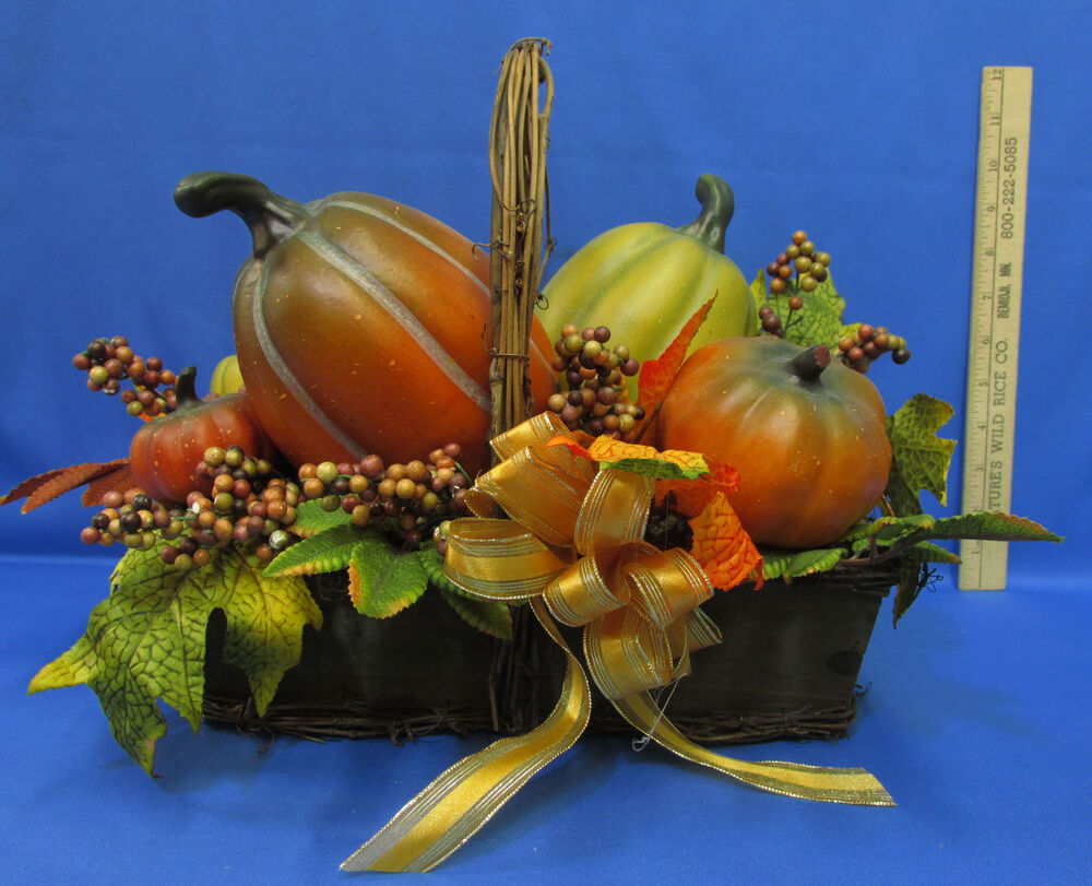 Artificial faux fall thanksgiving autumn centerpiece