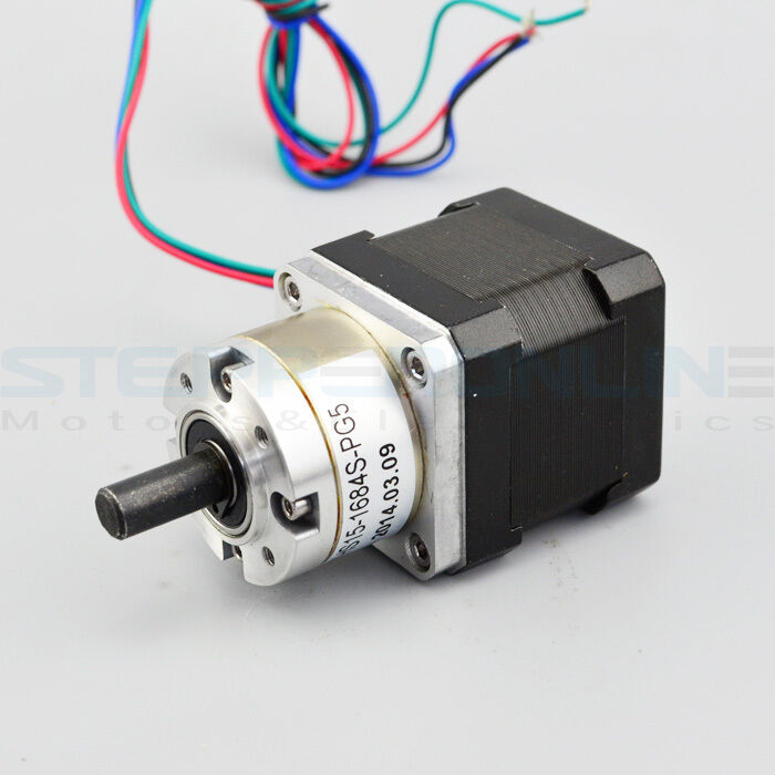 Extruder gear stepper motor ratio 5 1 planetary gearbox for Stepper motor gear box