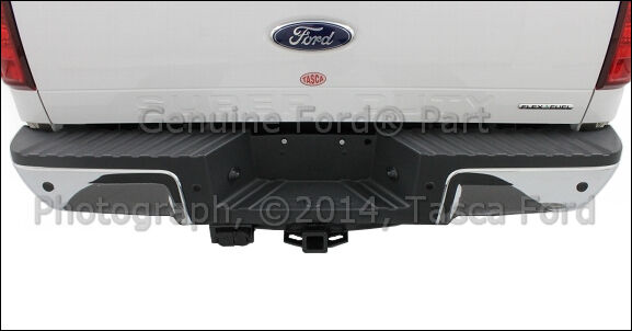 new oem black rear bumper step pad 2008 2012 ford f250 f350 f450 f550 styleside ebay. Black Bedroom Furniture Sets. Home Design Ideas