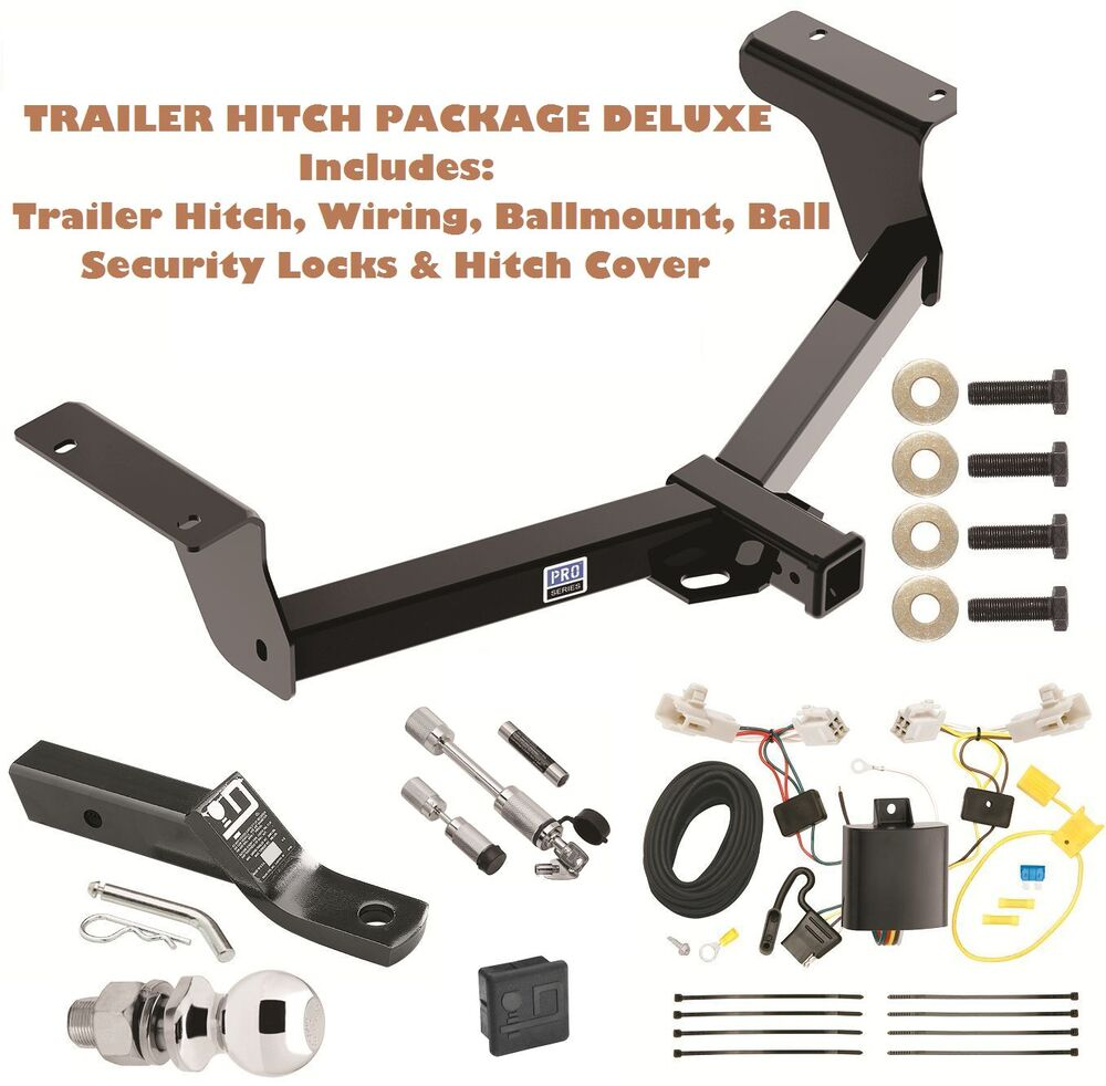 2013 2017 toyota rav4 trailer tow hitch pkg deluxe wiring