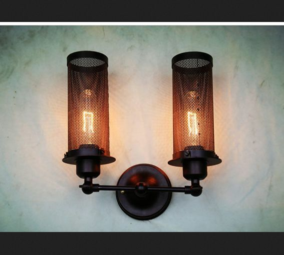 Industrial Wall Light Diy : 2 Heads Vintage Castle Style Industrial Wall Lamp Metal Light DIY Lighting Home eBay