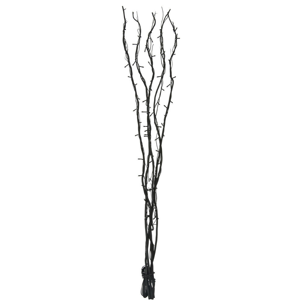 120cm black twigs with 80 white fairy lights branch twig. Black Bedroom Furniture Sets. Home Design Ideas