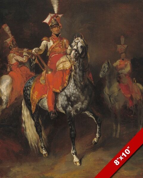 Horse mounted trumpeters of napoleon s imperial guard for Napoleon horse painting