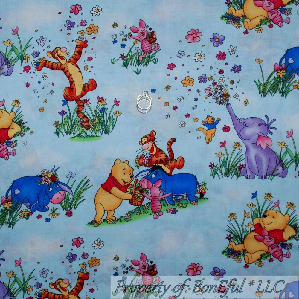 Boneful Fabric Bty Cotton Quilt Winnie The Pooh Baby